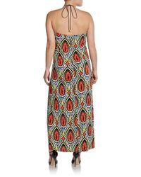 T-bags - Multicolor Tribalprint Halter Maxi Dress - Lyst