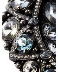 Lanvin - Metallic Moon Pendant Necklace - Lyst