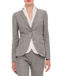 Akris - Gray Cool Wool Two-button Jacket for Men - Lyst