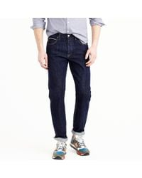 J.Crew - Blue 1040 Slim-straight Japanese Selvedge Jean In Resin Crinkle Wash for Men - Lyst