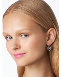 kate spade new york - Metallic Kate Spade Round Leverback Earrings - Lyst
