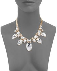 R.j. Graziano | Metallic Teardrop Crystal Statement Necklace | Lyst