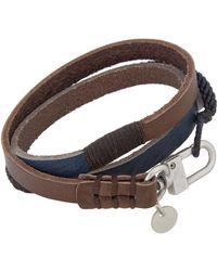 Caputo & Co. - Blue Two-tone Wrap Bracelet for Men - Lyst