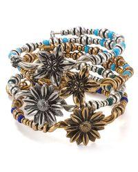ALEX AND ANI - Metallic Vintage 66 Valley Wrap Bracelet - Lyst