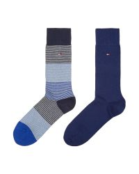 Tommy Hilfiger - Blue 2 Pack Of Fine Stripe Socks for Men - Lyst