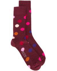 Paul Smith - Red Dot Intarsia Socks for Men - Lyst