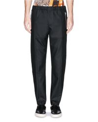 Givenchy - Black Seam Piping Zip Cuff Jogging Pants for Men - Lyst
