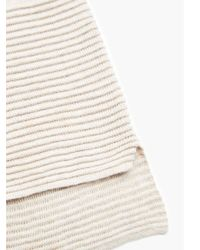 Mango - Gray Embossed Hem Cotton Sweater - Lyst