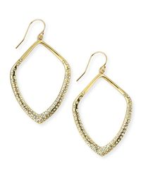 Alexis Bittar - Gray Lucite, Swarovski Crystal & 10k Yellow Gold Drop Earrings - Lyst