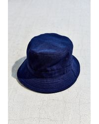 90b3554ca03 Lyst - Urban Outfitters Late Pass Flannel Bucket Hat in Blue