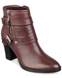 Marc Fisher | Purple Engine Ankle Booties | Lyst