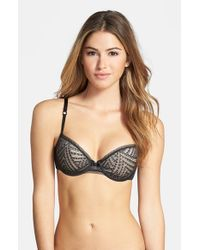 Chantelle - Black 'illusion' Underwire T-shirt Bra - Lyst