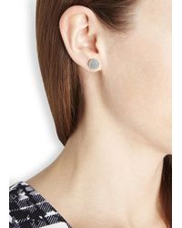 Marc By Marc Jacobs | Metallic Silver Tone Disc Stud Earrings | Lyst