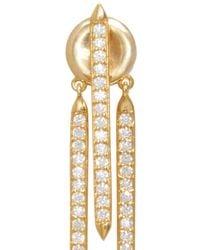 Fallon - Metallic Gold Plated Convertible Tinsel Earrings - Lyst