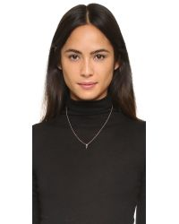 EF Collection - Pink Diamond Mini Bar Necklace - Lyst