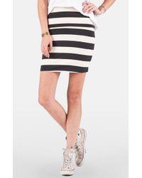 Volcom - Black 'main Squeeze' Stripe Skirt - Lyst
