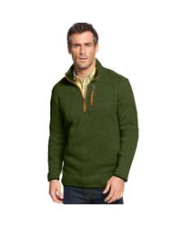 Izod | Green Quarterzip Fleece Pullover for Men | Lyst