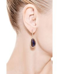 Kimberly Mcdonald - Purple One Of A Kind Yowah Opal and Diamond On Diamond Earrings - Lyst