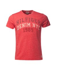 Tommy Hilfiger | Red Tassa T Shirt for Men | Lyst