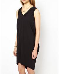 Mademoiselle Tara - Black Drape Back Easy Dress - Lyst