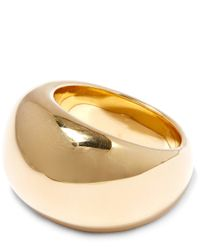 Jennifer Fisher - Metallic Gold-plated Cylinder Ring - Lyst