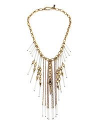 Vanessa Mooney - Metallic Masquerade Clear Statement Necklace - Lyst