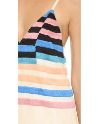 Mara Hoffman - Multicolor Embroidered Dress - Stone - Lyst