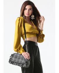 Bebe - Black Tatiana Crossbody Bag - Lyst