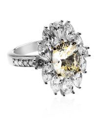 Carat* | Yellow Oval Flower Ring | Lyst