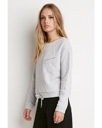 Forever 21 - Gray Diamond-patterned Pullover - Lyst