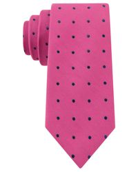 Tommy Hilfiger | Pink Dot Slim Tie for Men | Lyst