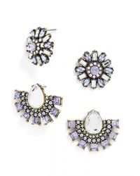 BaubleBar | Purple Cool Crystal Stud Set | Lyst