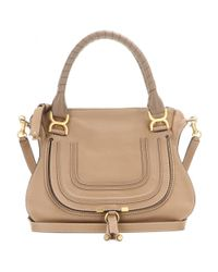 Chloé - Natural Marcie Medium Leather Shoulder Bag - Lyst