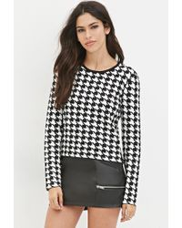 Forever 21 - Black Houndstooth Sweater - Lyst