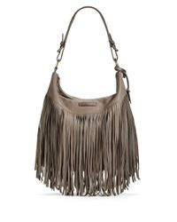 Frye | Gray Heidi Leather Hobo Bag | Lyst