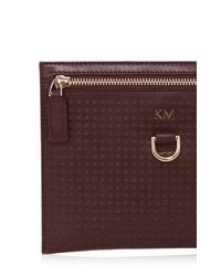 Karen Millen | Red Km Perforated Pochette | Lyst