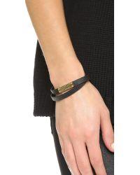 Marc By Marc Jacobs - Metallic Standard Supply Leather Id Bracelet - Black - Lyst