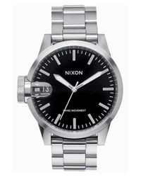 Nixon - Metallic 'the Chronicle' Bracelet Watch for Men - Lyst