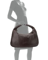 Bottega Veneta - Brown Veneta Intrecciato Maxi Hobo Bag - Lyst
