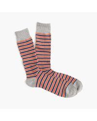 J.Crew - Blue Triple-stripe Socks for Men - Lyst