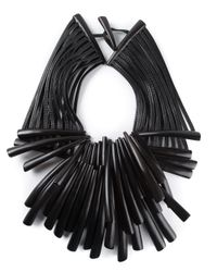 Monies | Black Tribal Fringed Necklace | Lyst