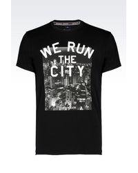 Armani Jeans - Black City Print T-shirt for Men - Lyst