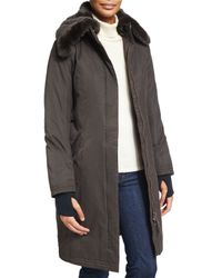Nobis | Black Lady Taylor Coat With Removable Fur Collar | Lyst