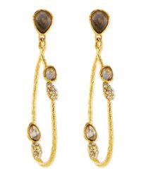 Alexis Bittar - Metallic Vine Link Earrings With Labradorite - Lyst