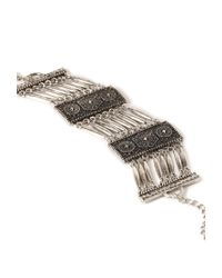 Forever 21 - Metallic Ornate Etched Bracelet - Lyst