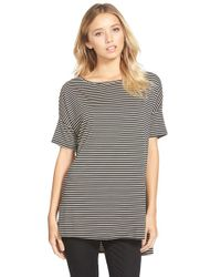 Project Social T | Brown Stripe Boxy Tee | Lyst
