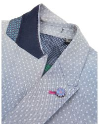 Ted Baker - Gray Shemshy Casual Button Blazer for Men - Lyst
