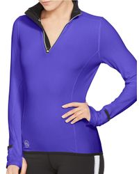 Lauren by Ralph Lauren | Purple Performance Jersey Pullover | Lyst
