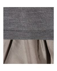Dorothee Schumacher | Gray I Feel Fine Wool And Silk Top | Lyst