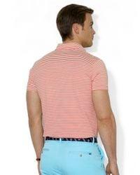 Polo Ralph Lauren   Orange Striped Lisle Pocket Shirt for Men   Lyst